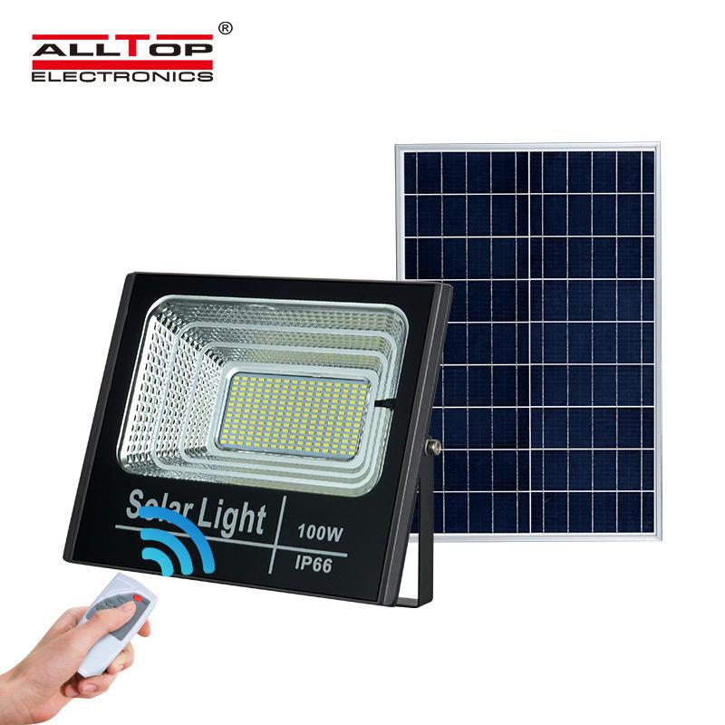 ALLTOP Hot sale Bridgelux waterproof ip66 outdoor lighting smd 25 40 60 100 watt solar led flood light price