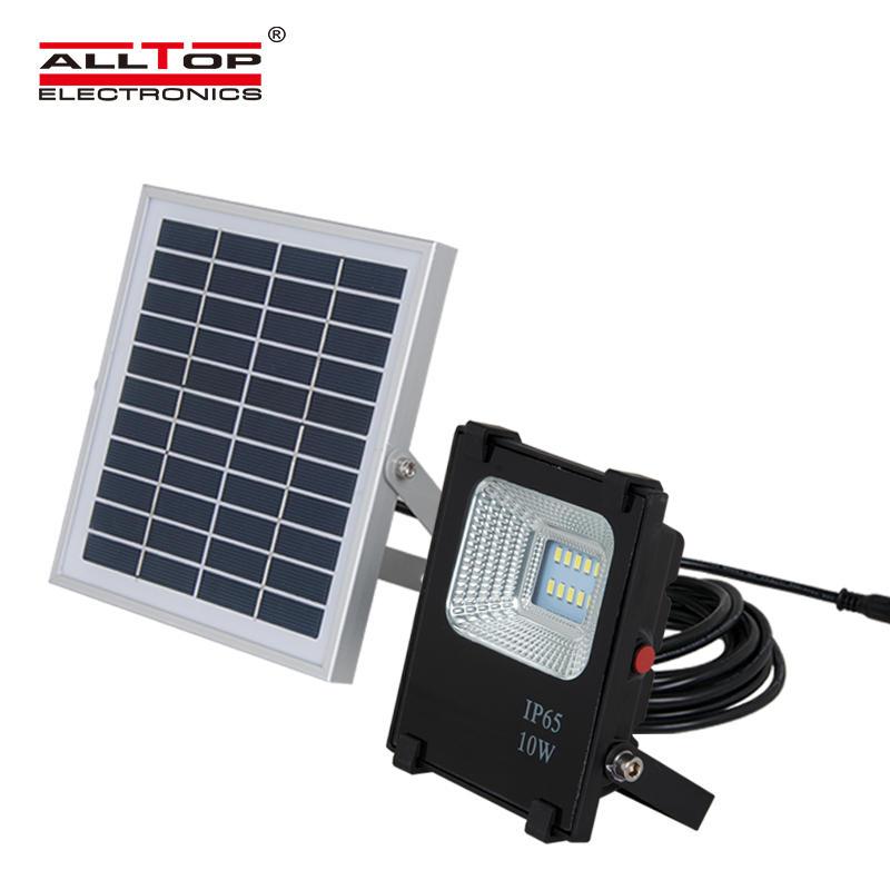 ALLTOP High power waterproof IP65 bridgelux dimmable slim solar 10watt led flood light
