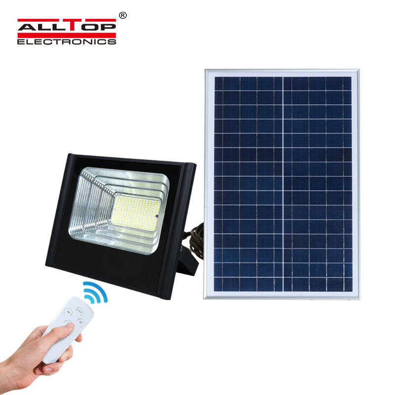 ALLTOP Outdoor garden projector lamp ip65 smd 50w 100w 150w 200w rechargeable solar led flood light