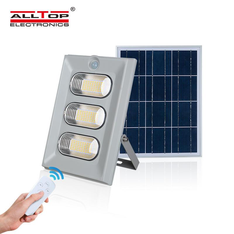 ALLTOP High lumen ABS housing IP67 outdoor waterproof 50w 100w 150w solar led flood lamp