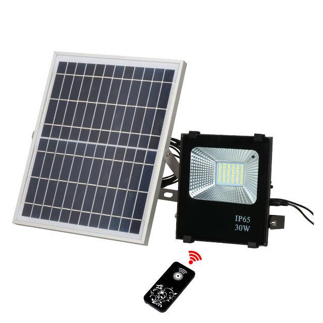 ALLTOP Big power cheap garden spotlight rechargeable dc 12v 24v 10w 30w 100w solar emergency led floodlight