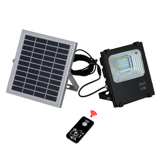 10w high lumen explosion proof portable led slim solar flood light