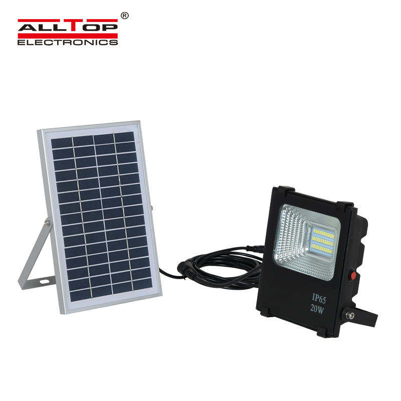 ALLTOP 12 volt high bright outdoor waterproof 20 watt solar led flood light
