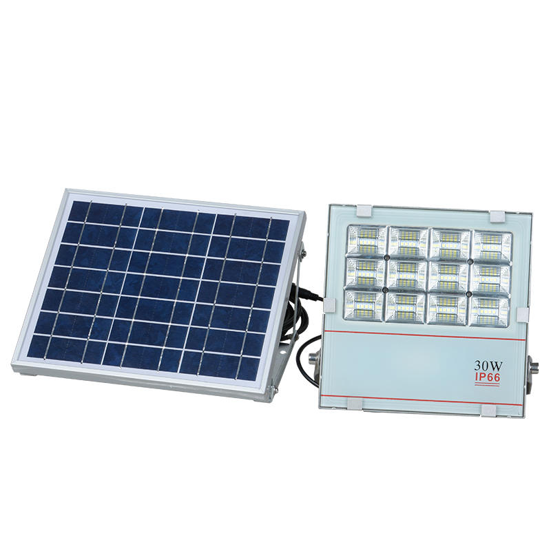 Aluminum bridgelux waterproof outdoor 30w solar led flood light
