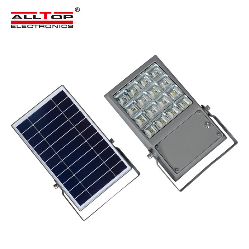 ALLTOP High power IP65 outdoor waterproof SMD bridgelux 8 12 watt solar led flood light