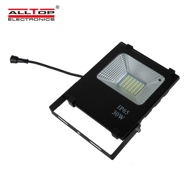 Zhongshan high lumen square waterproof 10w 20w 50w 100w solar led flood light