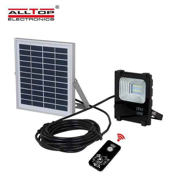 High quality waterproof outdoor ip65 10w 20w 30w 50w 100w solar led flood light
