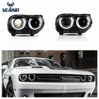VLAND manufacturer for auto car head light for Challenger LED Headlight 2015-up for Challenger headlamp with moving turn signal