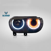 VLAND Factory For Car Headlamp For Challenger Head Light 2008-2014 For Challenger LED Headlight With Moving Turn Signal