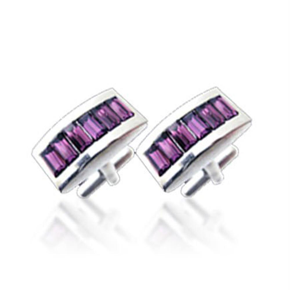 Purple crystal stone brass fashion bijoux golf cufflinks