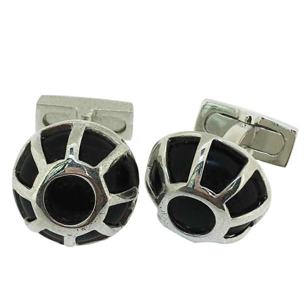 Black shell design brass men suit accessories top quality cufflinks