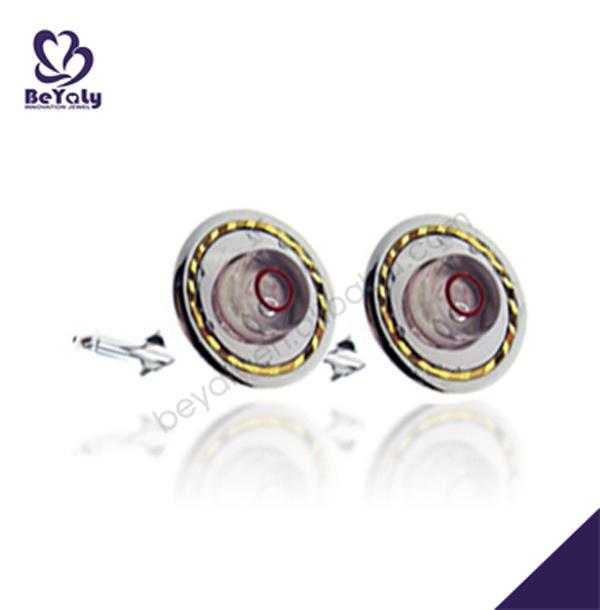 Elegant handmade flower design silver or brass cuffl link