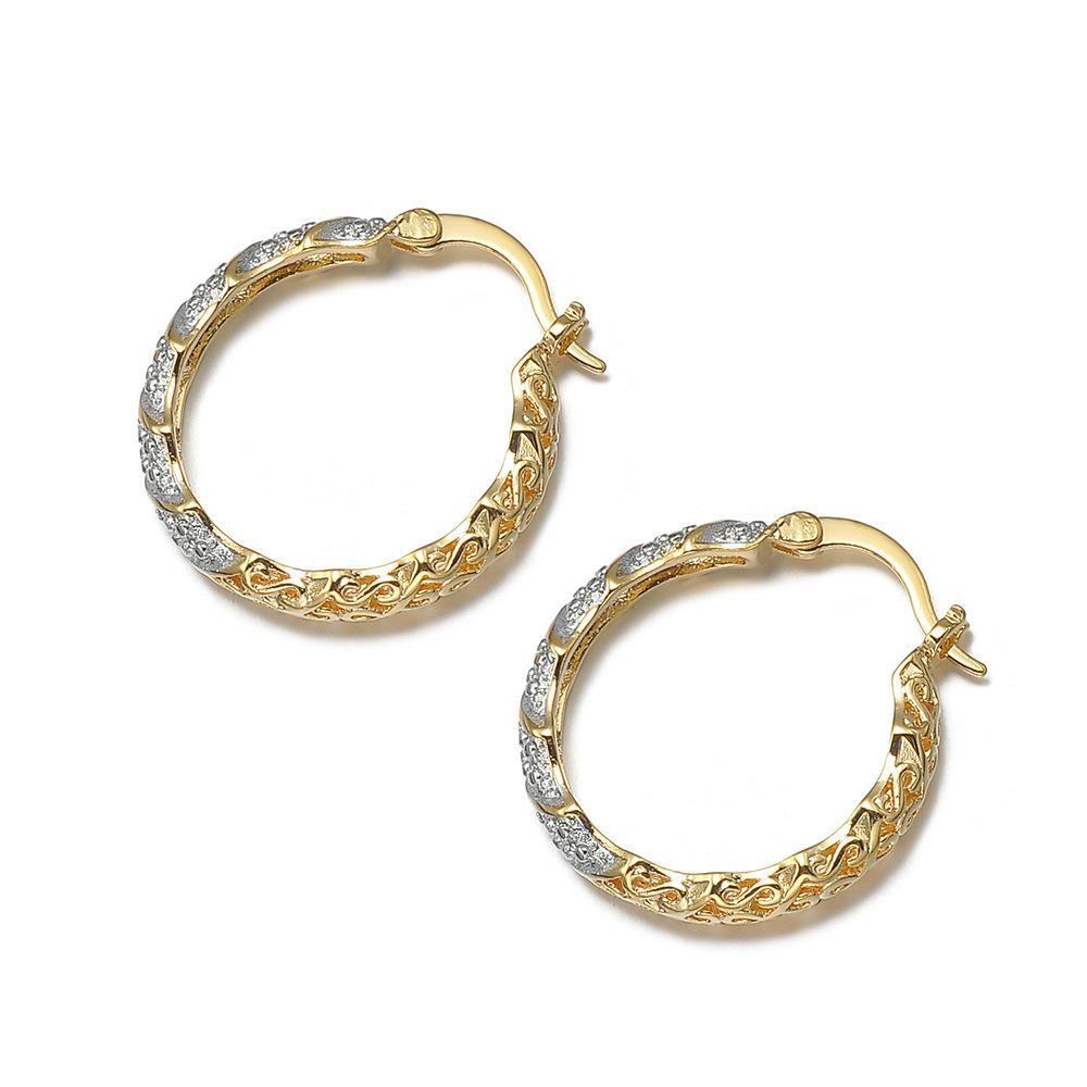 Wheel Shape Silver Bijou Jewelry Studs 9Ct Gold Earrings