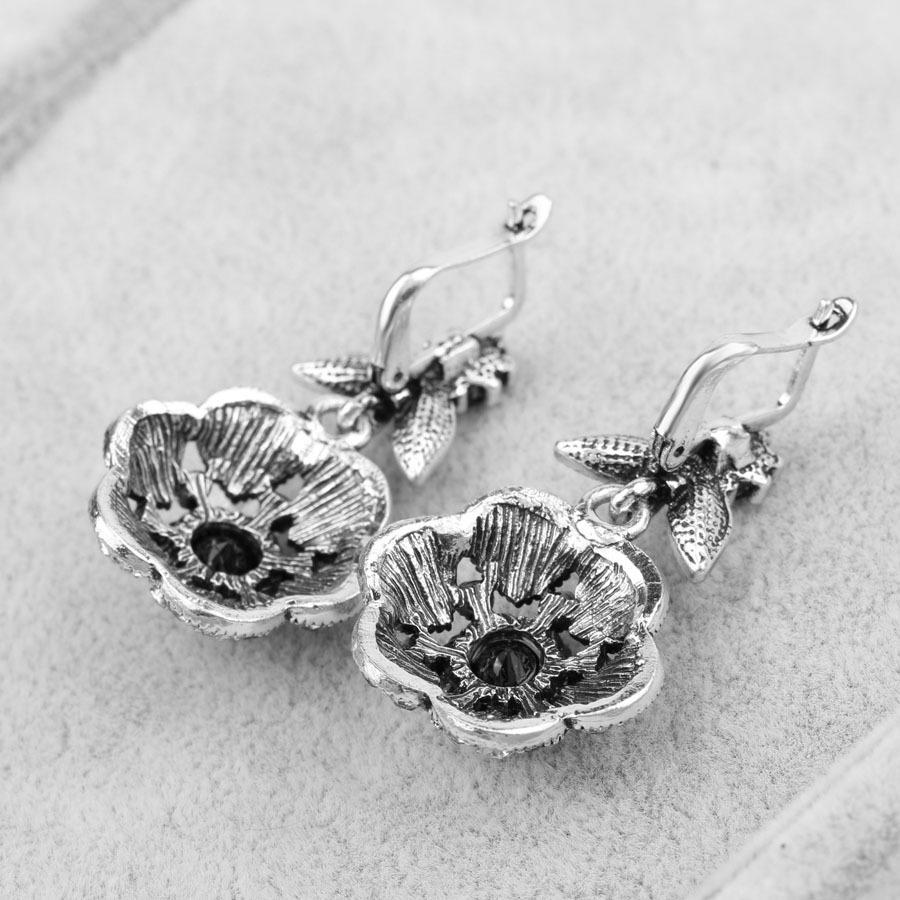 Bohemian Jewelry Pendant Earrings, Crystal Flower Earrings, Resin Pendant Earrings Wholesale
