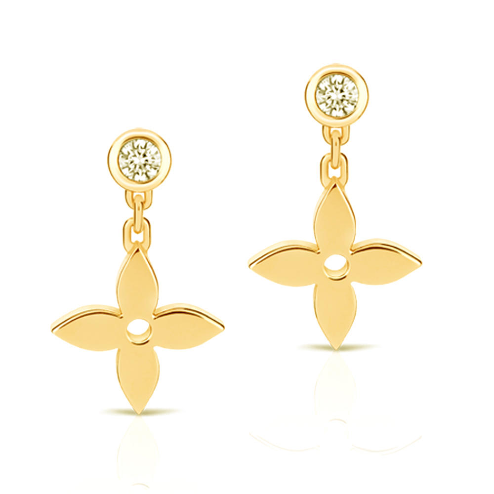 Trendy star shape girls rose gold plating earring costume jewelry