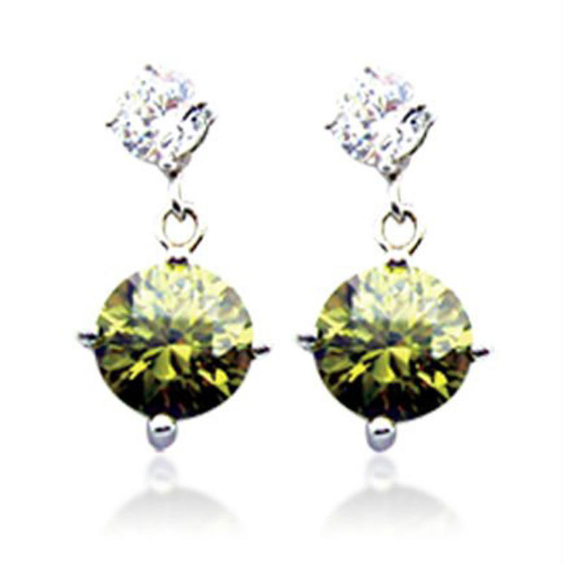 Clarity gemstone shiny fashion wholesale disco ball earrings