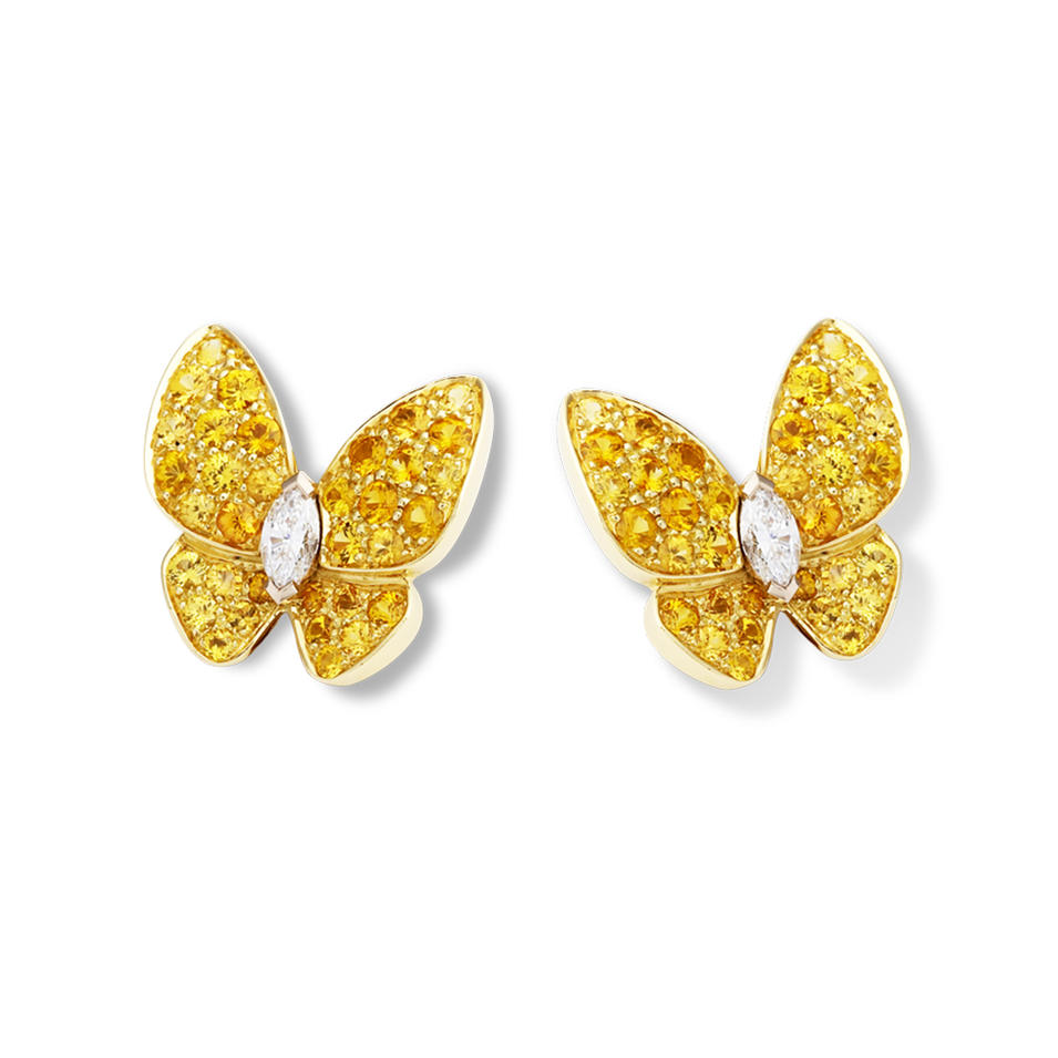 Brilliant Multi Crystal Fully Studded Butterfly Earrings For Women