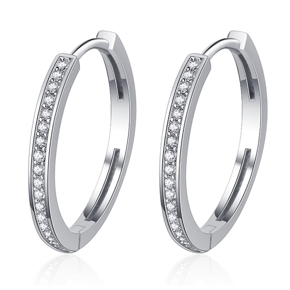 Fashion silver jewelry Cubic Zirconia hoop silver925 earring
