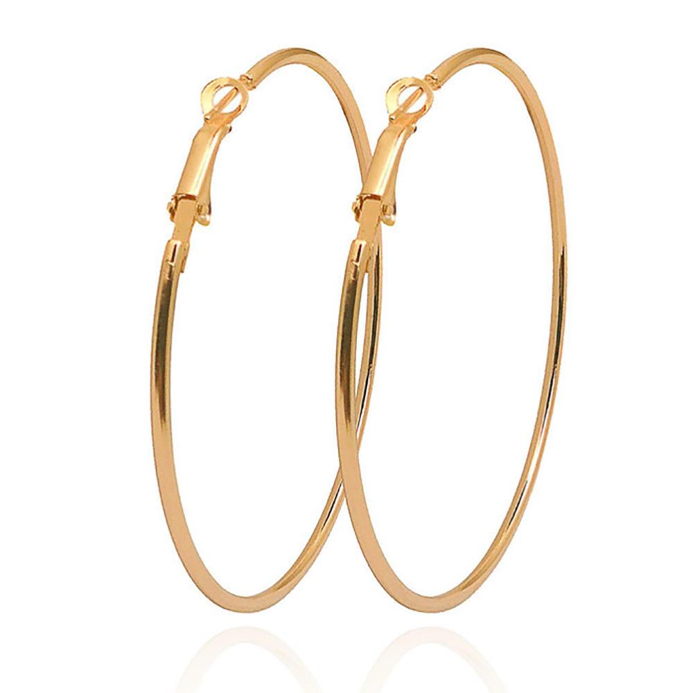 Large Circle Earrings Popular Exaggerated Hoop Earrings Geometric Earrings