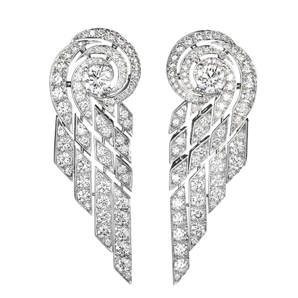 Brilliant Crystal Chandelier Silver Brand Name Earring