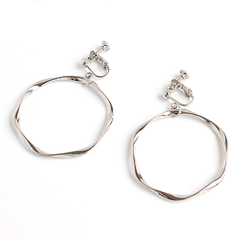 Simple Geometric Large Circle Earrings, Without Piercings Exaggerated Earrings