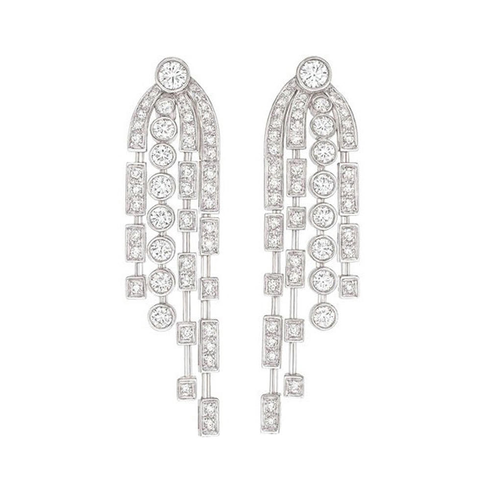 Lovely gemstone jewelry silver wedding souvenirs bridal chandelier earrings