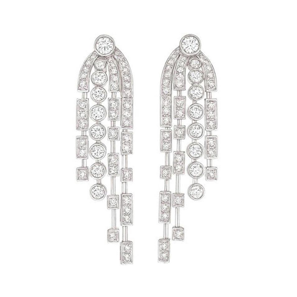 Lovely gemstone jewelry silver wedding souvenirs bridal chandelier earrings