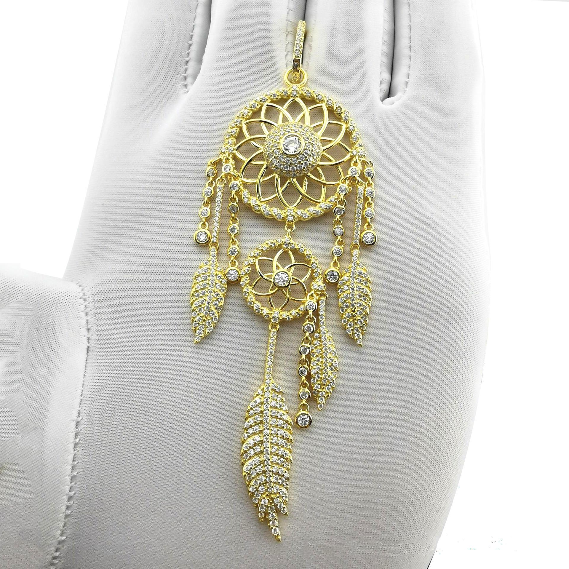 Brilliant Cz Feather New Design Gold Jhumka Earrings Saudi Gold Jewelry Hot Sale