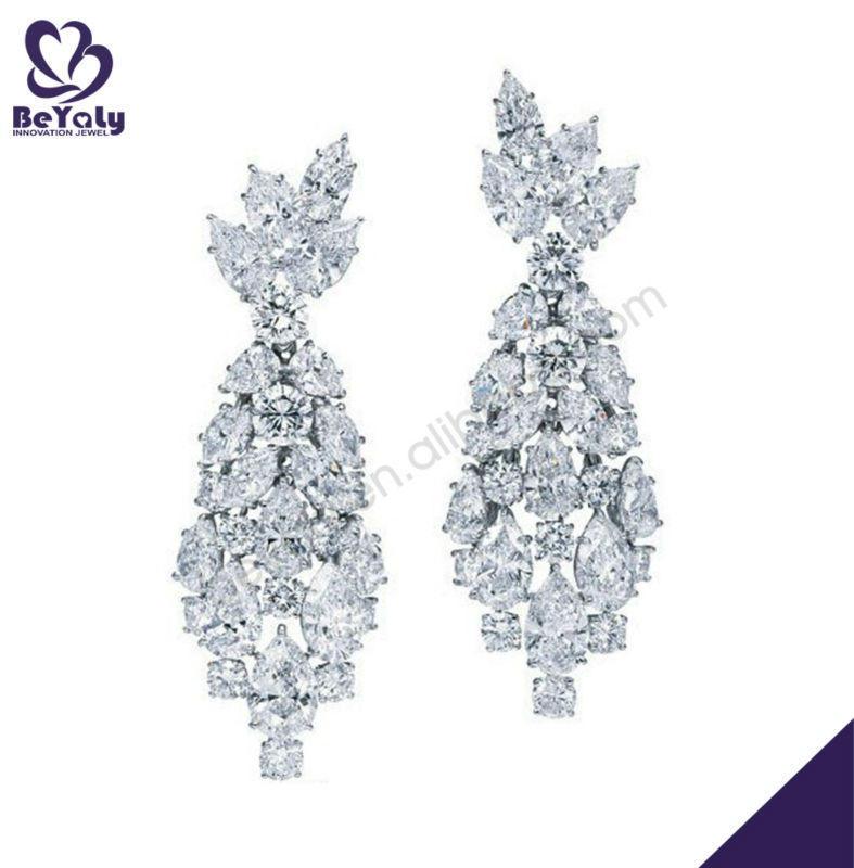 Promotion jewelry findings cubic zirconia afro girl earrings