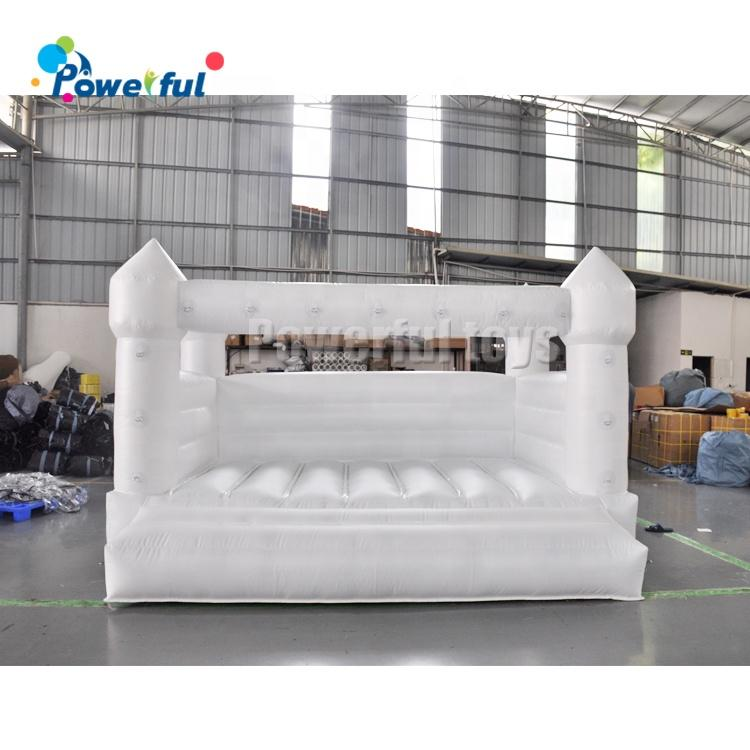 Outdoor white wedding bouncy house inflatable jumping castle