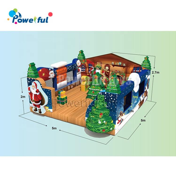 Christmas theme inflatable jumping castle outdoor inflatable bouncer
