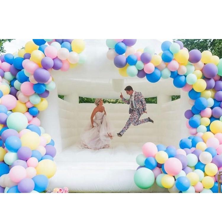 White Jumping Bouncy Castle Event Bounce House For Wedding