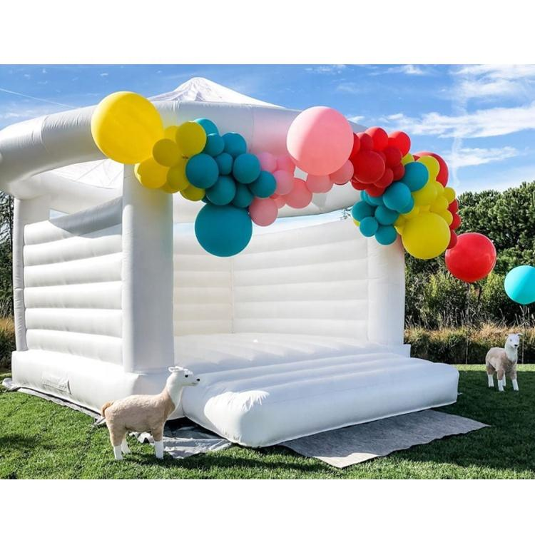 wedding white adult inflatable jumper bouncer jumping bouncy castle bounce house for rental