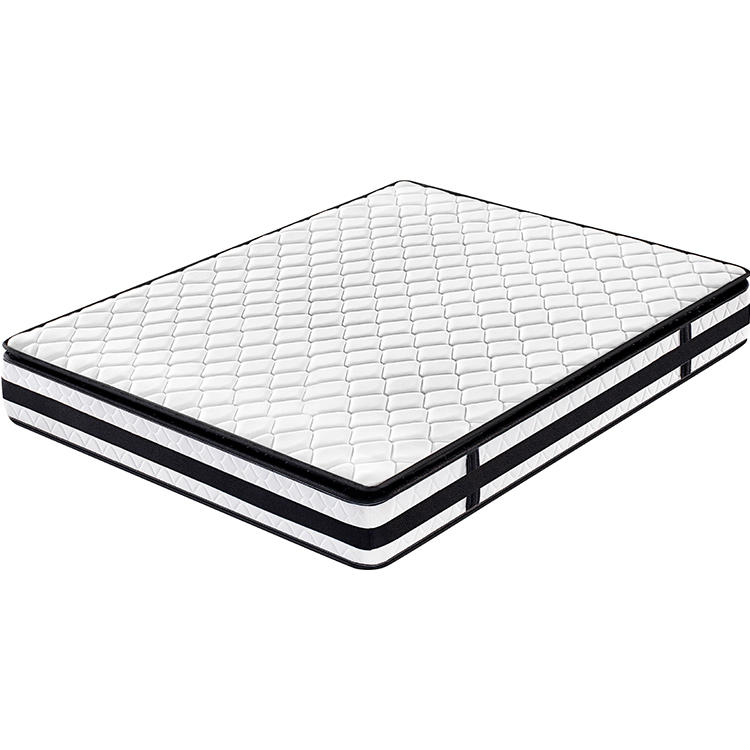 Pillow top foam bonell spring mattress 3 star hotel mattress rolled foam spring mattress