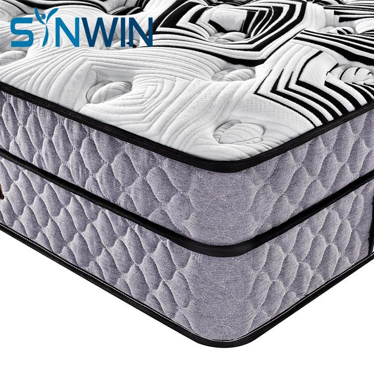 35cm 12 inch euro top hotel mattress wholesale spring mattress