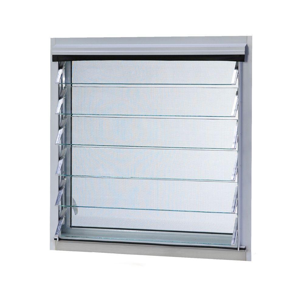 Aluminium frame adjustable wind resistant glass louver