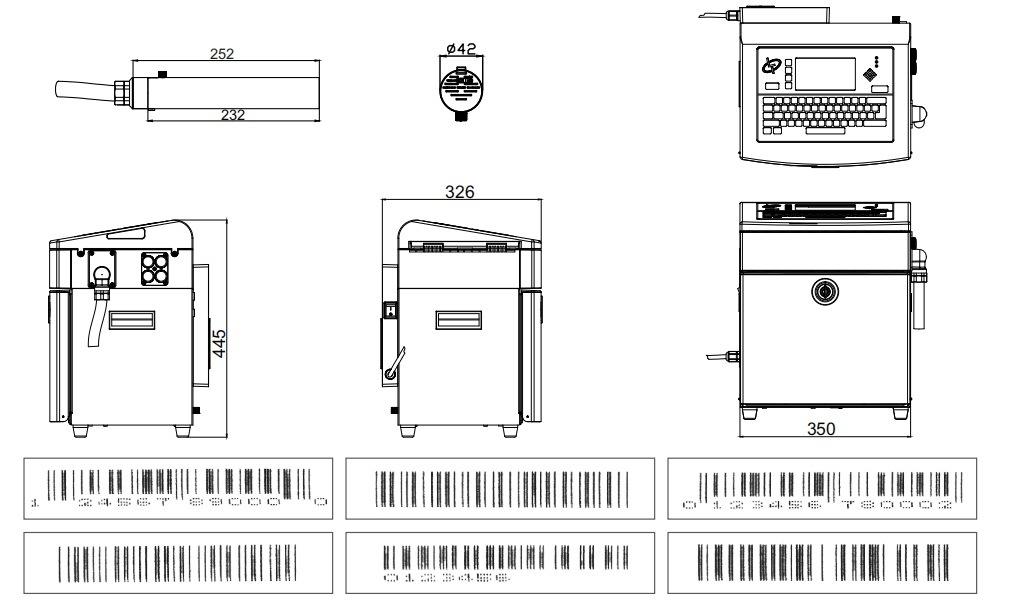 Lead Tech Lt710 Marking Machine Coding Machine Cij Laser Inkjet Printer for Egg Coding