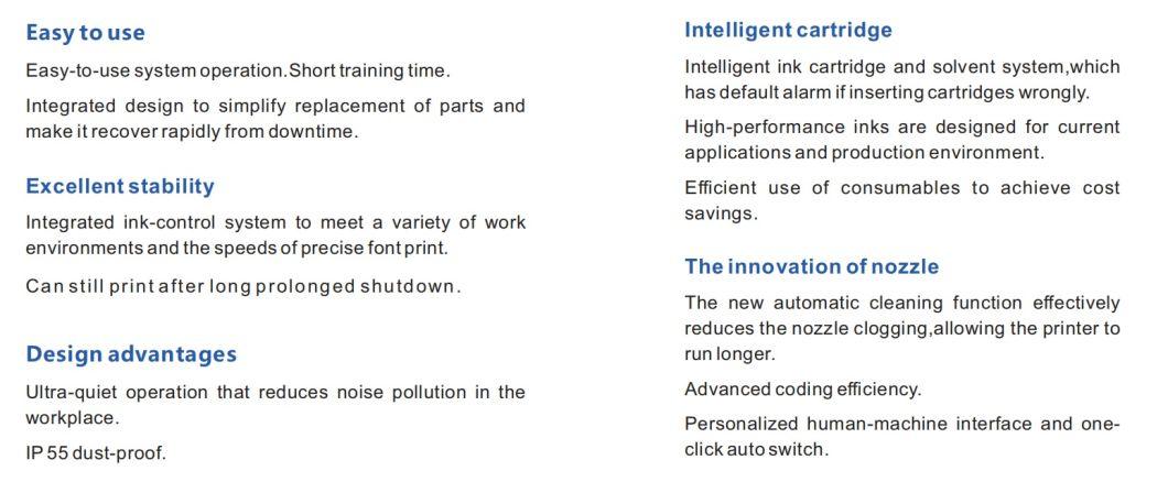Lead Tech Lt710 Cij Inkjet Printer for Black to Red Coding