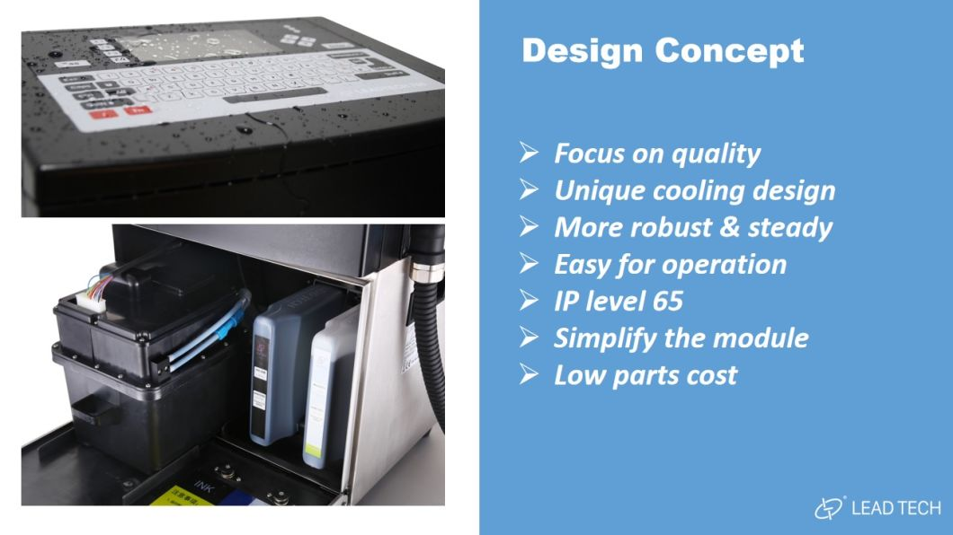 LEAD TECH High-quality recycle inkjet printer professtional for tobacco industry printing-3
