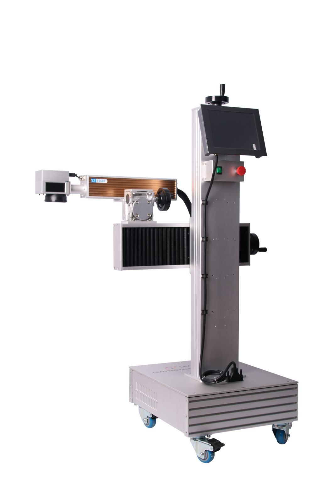 LEAD TECH dustproof portable laser marking machine price promotional for building materials printing