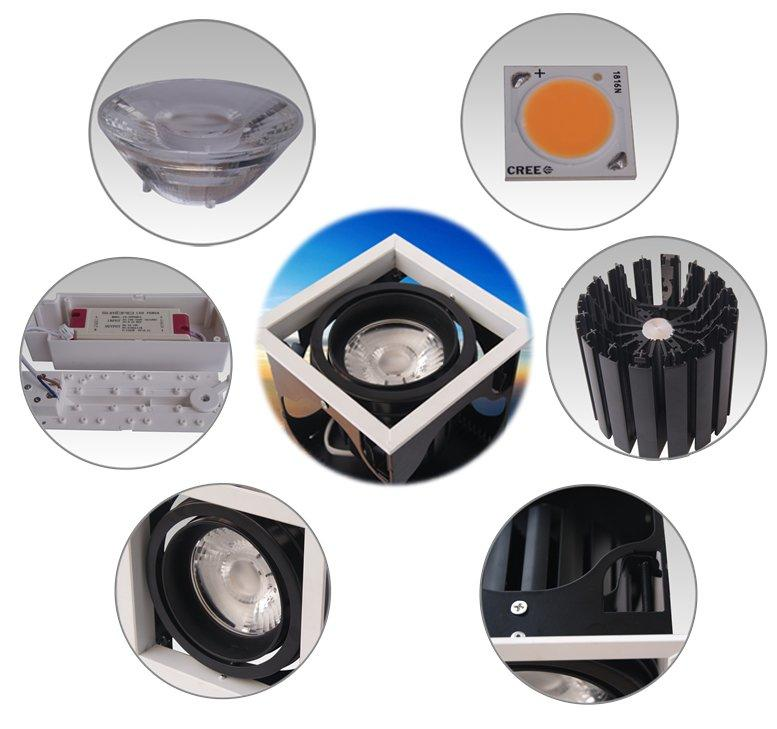 4 inch recessed lighting Exhibition room high square dw0522