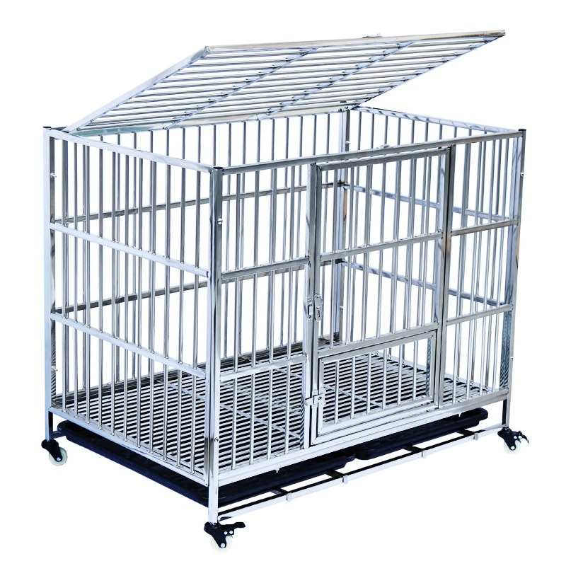 Cute Pet Dog Crate Furniture Tray Stainless Steel Custom Animal Cage