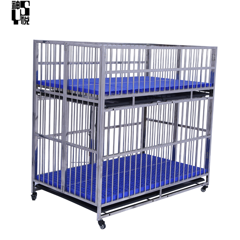 Cheap Price Two Dryer Foldable Stainless Steel Kennel Cages For Dog
