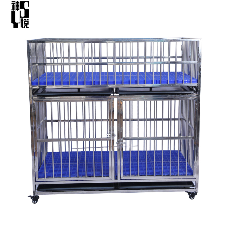 Double Doors Running on top of cageAnimal Stainless Steel Dog Cage For Sale