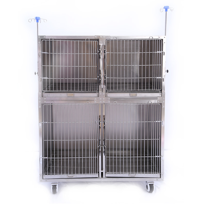 304 stainless steel pet equipment pet dog cage for veterinary hospital