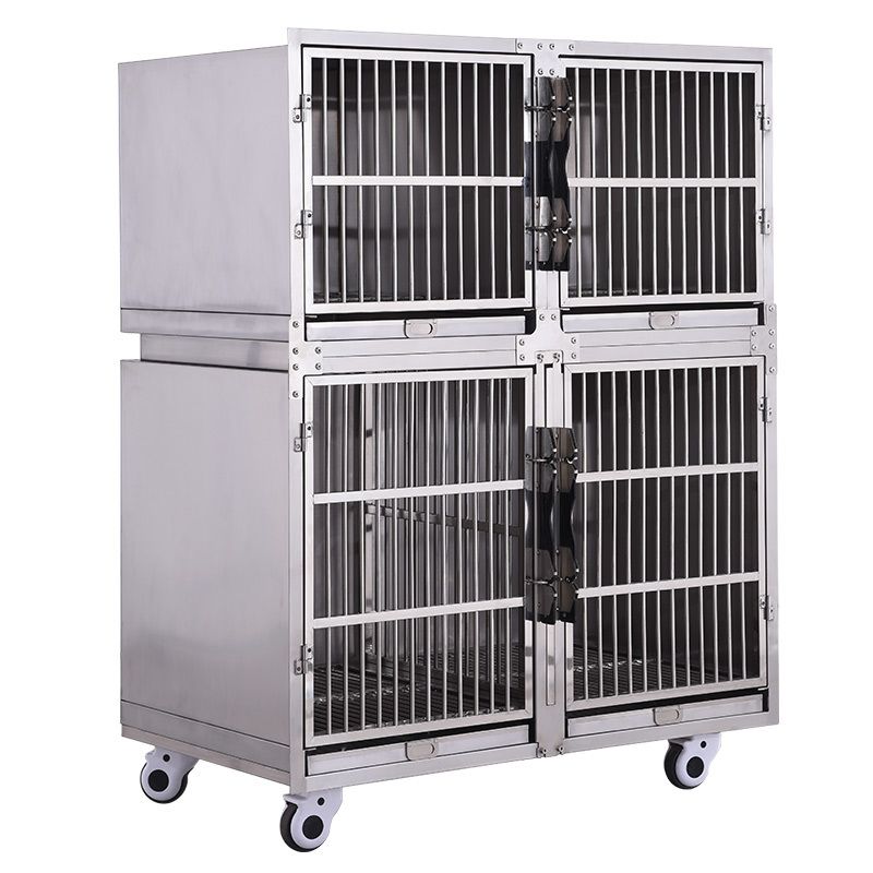 Wholesale Vet Cage Bank Pet Cages Hospital Large Stainless Steel Dog Cages