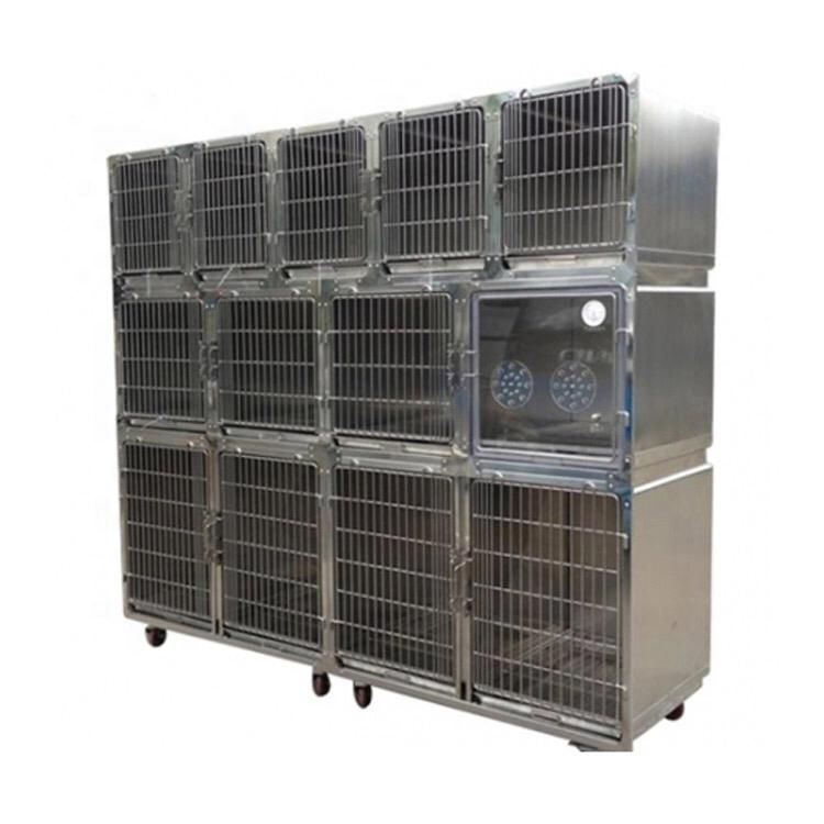 Top grade veterinary hospital modular large size stainless steel dog cage