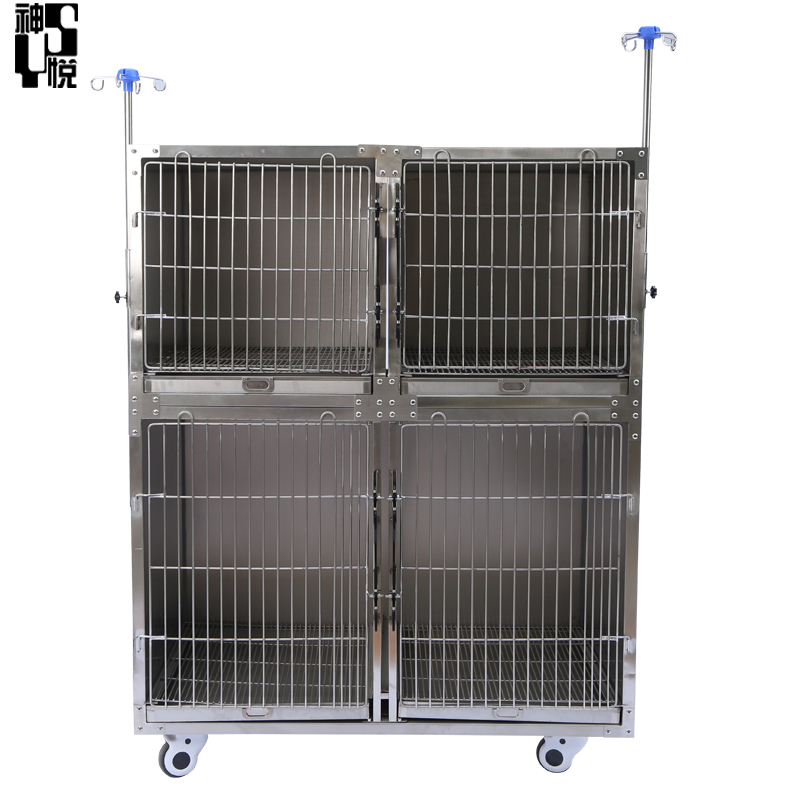 stainless steel 304 animal Medical cage pet vet hospital crates