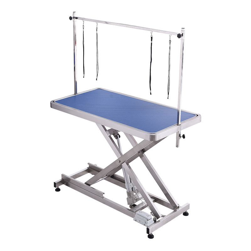 Electric Lifting Adjustable Height Dog Grooming Table with Gantry