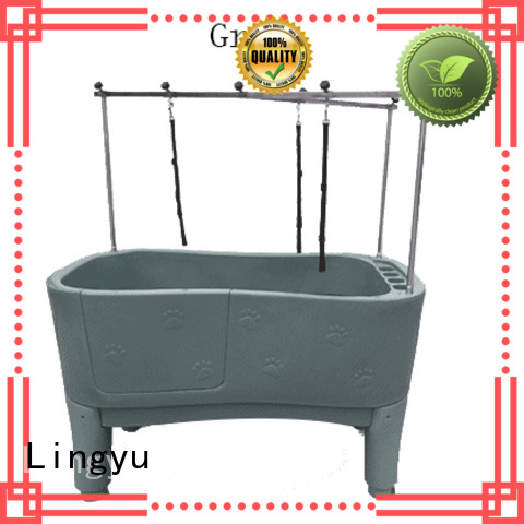 Lingyu dog bath tub manufacturer for pets